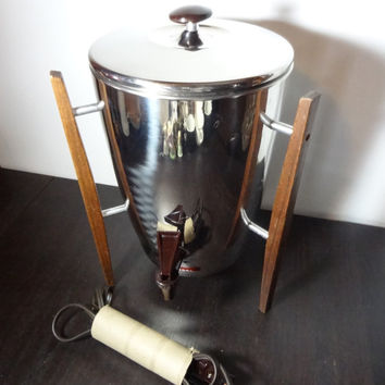 Vintage Regal Danish Modern Style 10 to 30 Cup Automatic Percolator/Coffee Pot/Coffee Urn - Danish Mid Century Modern Design