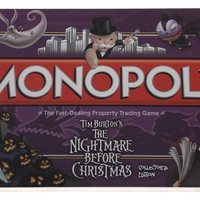 Monopoly Tim Burtons The Nightmare Before Christmas Collectors Edition Sealed