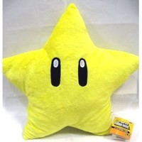 "Super Mario Brothers Star 8"" Plush"