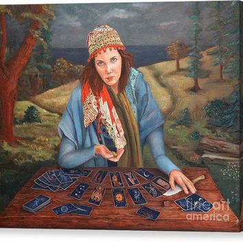 The Gypsy Fortune Teller - Canvas Print 138