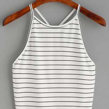 Bella Striped Halter Top