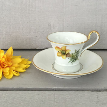 Vintage Espresso Cup for Candle Making, DIY Bird Feeder, Succulent Planter, Demmitasse Cup, German Porcelain Teacup, Cactus Planter