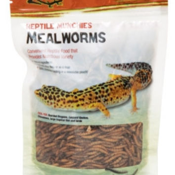 Zilla Reptile Munchies Mealworms 3.75 oz