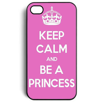 Keep Calm and be a Princess the pink bottom Snap On Case Cover for Apple iPhone 4 4s 5 5s 5c 6 6s 6plus 6s plus TQI