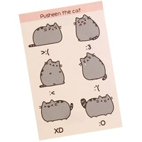 Pusheen The Cat Emoticon sticker sheet