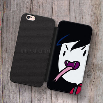 Adventure Time Marshall Lee Wallet Leather Case for iPhone 4s 5s 5C SE 6S Plus Case, Samsung S3 S4 S5 S6 S7 Edge Note 3 4 5 Cases