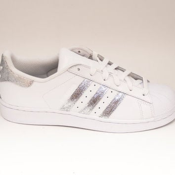 Kids Adidas Superstar J GS White Black Ice B42369