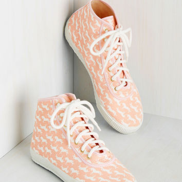 Everyday Energetic Sneaker in Pink Unicorn | Mod Retro Vintage Flats | ModCloth.com