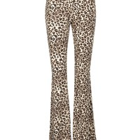 Running Wild Leopard Animal Print Flared Bell Bottom Pants