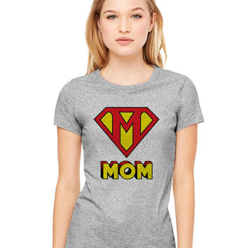 Grey Tshirt - This Mom Is Super Funny Shirt Tee T-Shirt Mens Ladies Womens Mother's Day