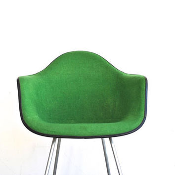 Herman Miller Upholstered Fiberglass Chair - Green Mid Century Chair