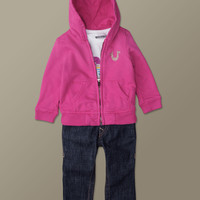 Baby Girls 3 Piece Gift Set - (3C Fuschia) | True Religion Brand Jeans