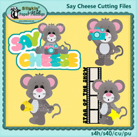 Say Cheese Cutting File Set mice mouse animals kids camera
