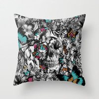Butter and bones Throw Pillow by Kristy Patterson Design