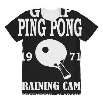 forrest gump   ping pong camp   cult film All Over Women's T-shirt