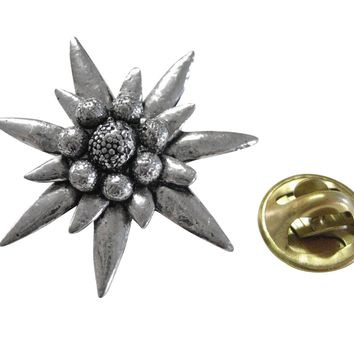 Large Edelweiss Flower Lapel Pin
