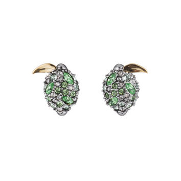 Crystal Encrusted Lime Post Earring | Alexis Bittar
