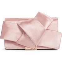 Ted Baker London Fefee Satin Knotted Bow Clutch | Nordstrom