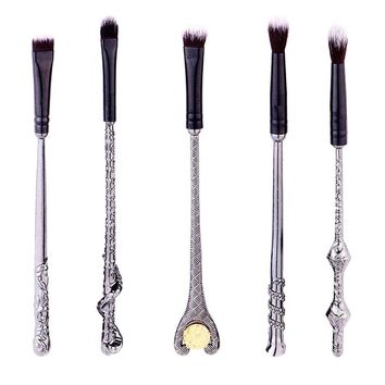 Ibeauti 5pcs Magic Wand Makeup Brush Set Eye Eyeshadow Blending Brushes Cosmetic Makeup Tool Kit (Black)