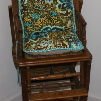 Ready to Ship Amy Butler Belle  High Chair Cushions, High Chair Pads, High Chair Cover, Highchair Pads