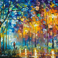 "Friends Forever —  Oil Painting On Canvas By Leonid Afremov. Size: 30""x24"""