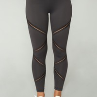 Anastacia High Rise Leggings - Grey