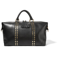 Eddie Harrop - The Voyager studded textured-leather weekend bag