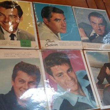Set of 12 1950s Male Heartthrob Movie Star Celebrity Photos Clipped Magazine Pages Great for Framing Decor Altered Art Collage Mulitmedia