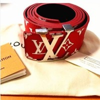 PEAPFN LV Supreme Woman Fashion Smooth Buckle Belt Leather Belt H-A-GFPDPF Tagre-