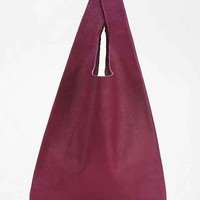 BAGGU Classic Small Leather Shopper Bag-