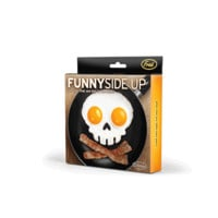 Start your day with a fried side of fun! Funny Side Up is a handy frame that shapes and molds two eggs into attractive egg art. Just place the mold in your frying pan, crack two eggs into the rings, and soon you'll have a breakfast buddy to hang out with!