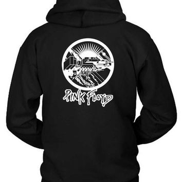 Pink Floyd Black And White Vektorize Hoodie Two Sided