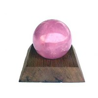Rose Quartz Sphere 2.25 inch diameter with Stand