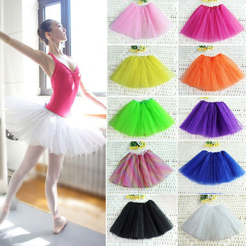 Lots of Colors tutu skirt women Ballet Dance tutus Mini Chiffon Skirt for women Ball Gown Design Dance Skirt