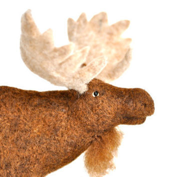 Needle Felted Bull Moose by BearCreekDesign on Etsy
