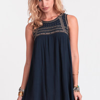 Rough Around The Edges Embroidered Dress