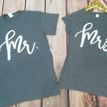 Mr and Mrs Shirt. Couples Shirts. Matching Couple Shirt.  Wifey hubby shirts.Hubby Wifey Shirts. Hubby Shirts. Bride and Groom Shirts.