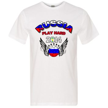 WORLD CUP RUSSIA PLAY HARD 2014 tshirt