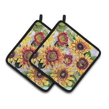 Sunflowers Pair of Pot Holders 8766PTHD