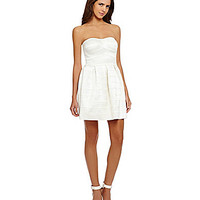 Gianni Bini Marsha Bandage Fit-and-Flare Dress - Pearl