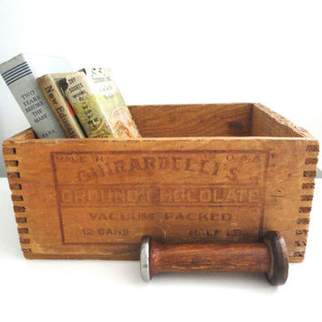 Wood Dovetail Box Industrial Style Box with Great Graphics Made in the USA