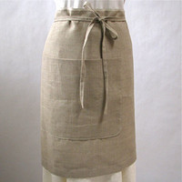 Inklore ? Linen Cafe Apron - Natural