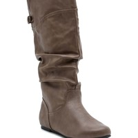 Kalisa 69 Slit Back Wide Cuff Slouch Boot