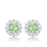 Bella Halo Earrings - Light Green