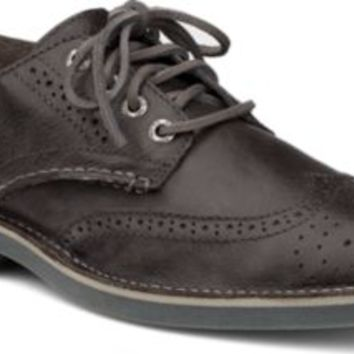 Sperry Top-Sider Cloud Logo Harbor Leather Wingtip Oxford DarkGrayLeather, Size 11M  Men's Shoes