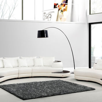 Divani Casa 109 Modern White Bonded Leather Sectional & Chaise Set