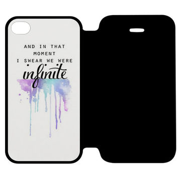 AND IN THAT MOMENT I SWEAR WE WERE INFINITE THE PERKS OF BEING A WALLFLOWER iPhone 4 Flip Case Wijayanty.com