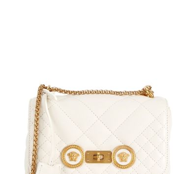 Icon small quilted leather shoulder bag