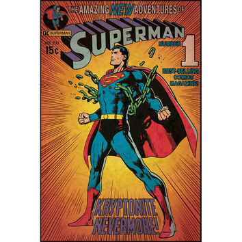 Superman Kryptonite Comic Cover Giant Wall Decal
