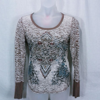 HJJB16010 Wrangler Camo Graphic Print Knit Top Size XL